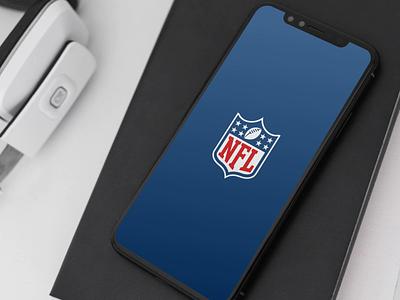 NFL Mobile App Launch splash football nfl typography graphic  design ui  ux design mobile app mobile animation motion