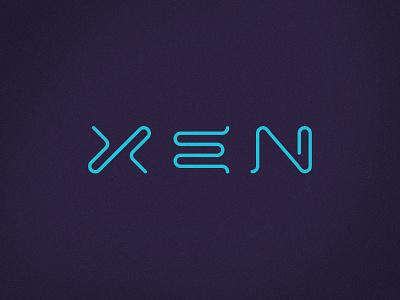 Xen Brand sci-fi science accessories mobile wordmark zen xen design brand logotype brand identity logo