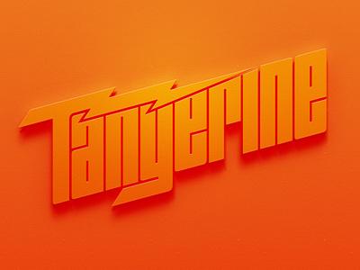 Tangerine Band Logo fruit lightning bolt lightning rock and roll poster orange tangerine band merch band logo band identity brand wordmark logotype logo