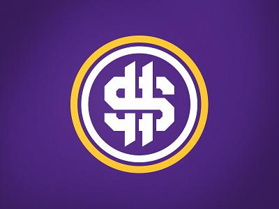 SKOLars Make Dollars vikings purple sports design sports logo dollar money s logo mark monogram football logo football fantasy