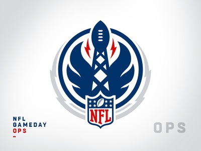 NFL Internal Team Sigil - Gameday Ops crest sigil league department team nfl sports branding brand logotype branding football brand identity sports logos logo mark logo sports logo