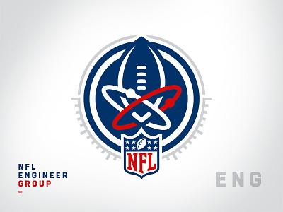 NFL Internal Team Sigil - Engineer Group crest sigil department team league nfl sports branding brand logotype branding football brand identity sports logos logo mark logo sports logo
