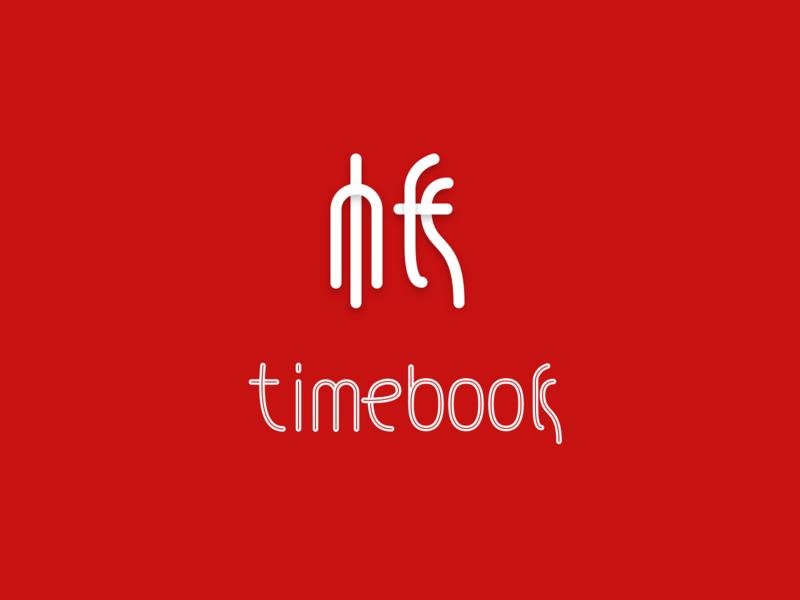 Timebook type branding logo