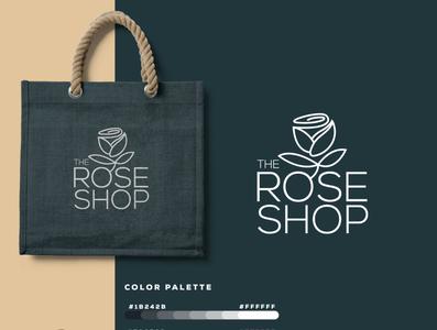 The Rose Shop   Logo Design graphicever logotype graphicdesign logomaker typography logomark brandmark best simple logoinspiration branding logodesigner vector identity designer design illustrator icon logos logo
