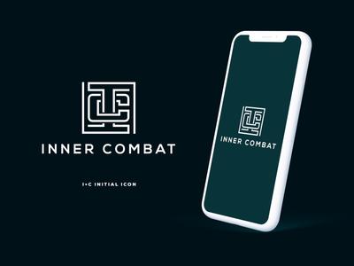 Inner Combat by Graphicever ui branding illustration minimal graphicever graphicdesign icon design vector logo