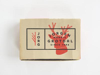 Card design card deer nordic