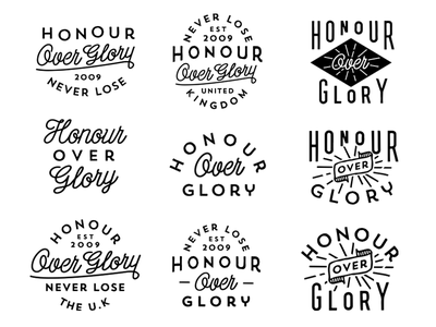 Honour Over Glory Collection honour over glory clothing