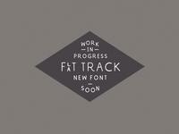 New font - Flat Track