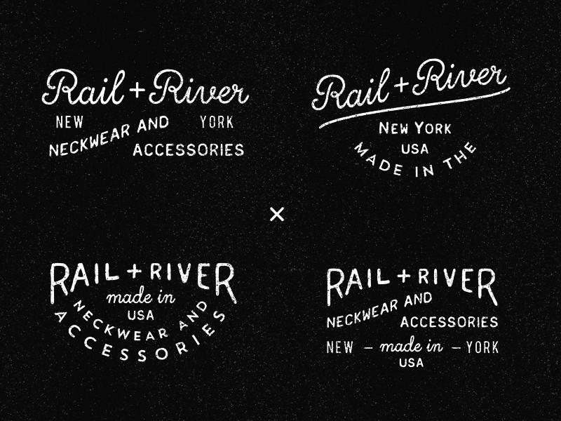 Rail + River tie rr vintage typography