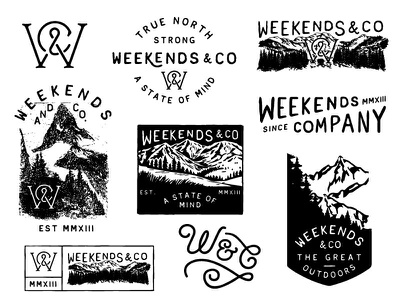 Weekends and Company wknds monogram mountain apparel