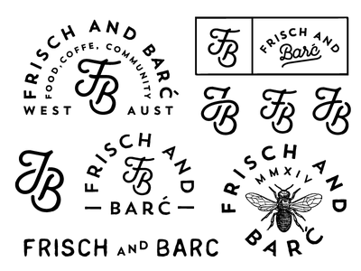F & B concept logo monogram fb