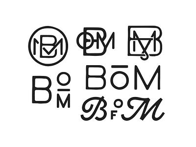 BoM logo logoconcept monogram