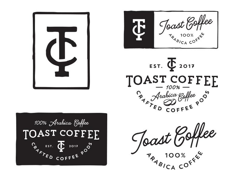 Toast Coffee logo coffe tc