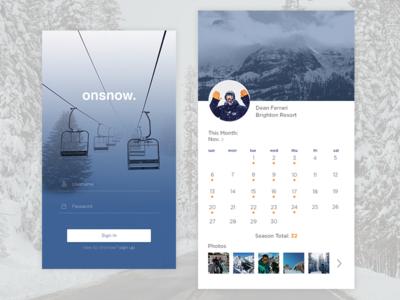 On Snow App Concept