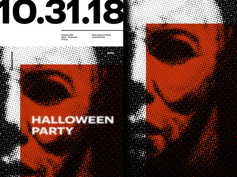 Halloween Dribble poster poster a day poster art michael myers illustration layout typography