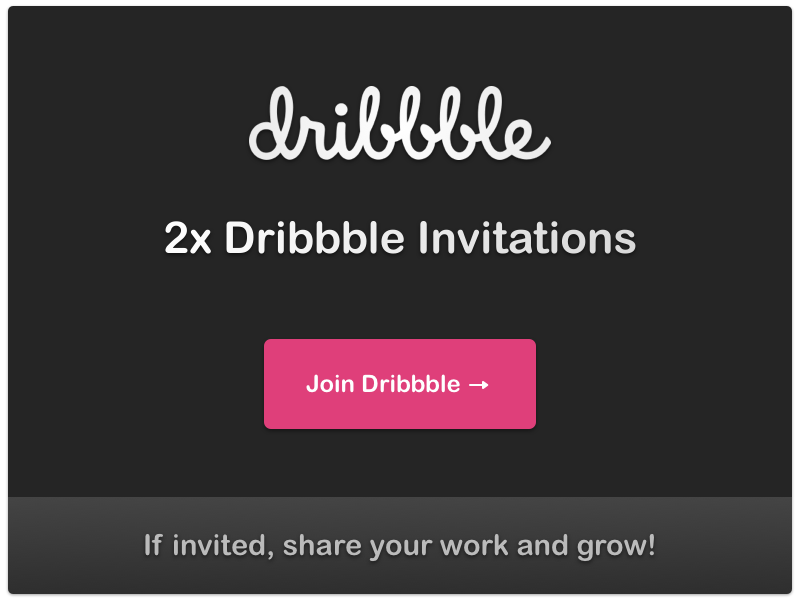 2 Dribbble Invitations invitations dribbble