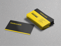 Black & Yellow Business Card