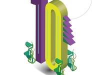 Isometric illustration of number 9