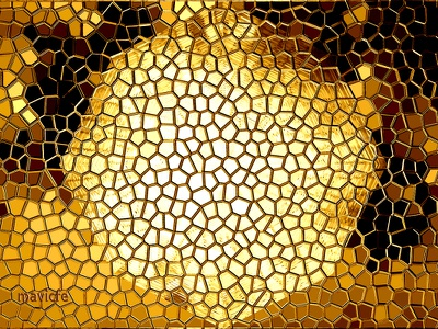 Abstract Octagonal Background branding abstract art golden abstract honeycomb cells crystal mirror digital illustration reflection mosaic bright background geometric shape logo design illustration mavicfe photoshop