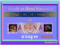 Horizontal Navigation Menu in Blogger