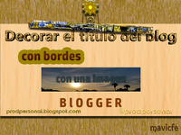 Border To Blog Title