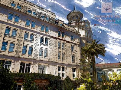 Balneario de Mondariz color building architecture photoshop art photography painting illustration art graphic design graphic art digital painting digital art illustration mavicfe photoshop