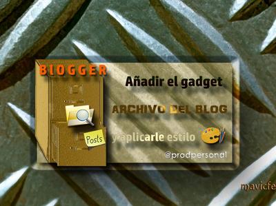 Blog Archive Gadget
