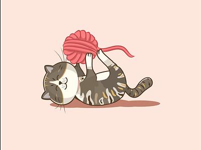 Cats illustrator vector logo artwork illustration