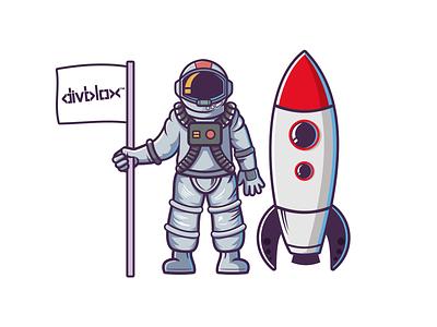 Astronaut logo illustrator vector illustration artwork