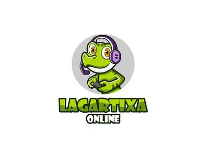 Lagartixa Online vector illustration artwork logo