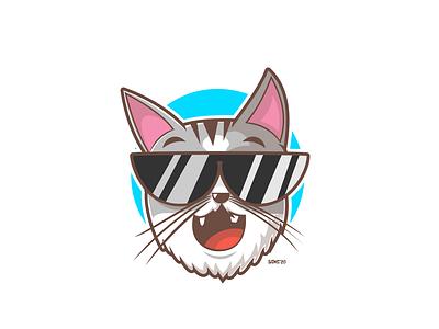 Cat Mascot cartoon graphic vector logo mascot animal cat