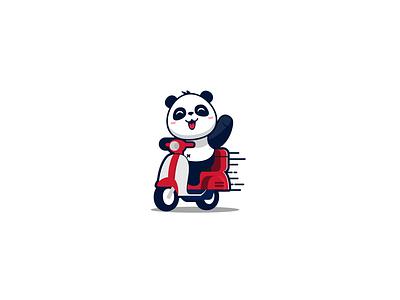 Courier Panda Logo Design illustration branding illustrator artwork vector logo