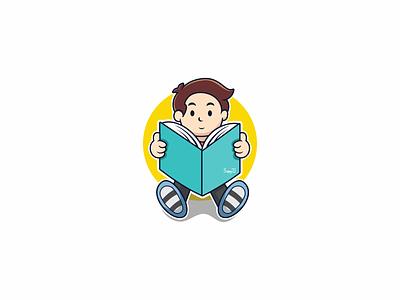 Book kids Club illustration design branding illustrator vector logo artwork