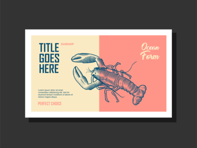 Label Design for A seafood Product