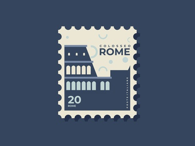 Postage stamps design of Italy