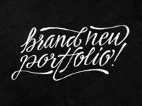 Brand new portfolio!