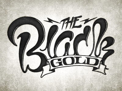 The Black Gold typography script highlight serif banner black gold coffee simon ålander coffee made me do it