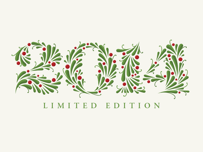 2014 lingonberry numerals 2014 lettering typography