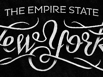 The Empire State typography script serif texture new york the empire state simon ålander coffee made me do it