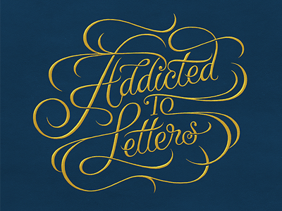Addicted to Letters typography letters script addiction fontanel poster exhibition simon ålander coffee made me do it