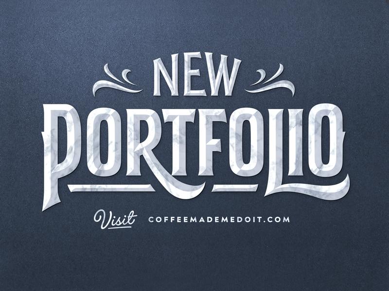 New Portfolio typography lettering simon alander coffee made me do it portfolio