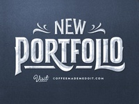 New Portfolio typography lettering simon alander coffee made me do it portfolio