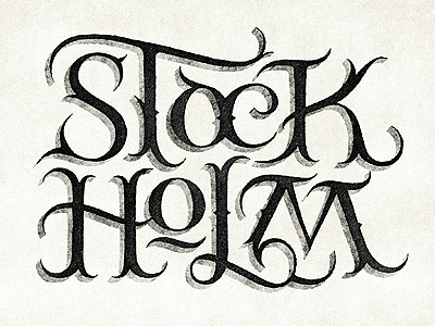 Stockholm typography stockholm texture shadow simon ålander coffee made me do it