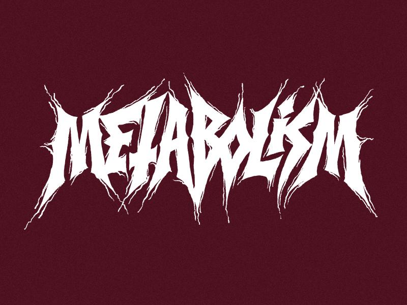 Metabolism logo black metal metabolism typography
