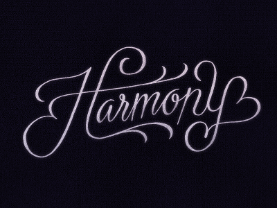 Harmony typography lettering script swashes harmony cheesy simon ålander coffee made me do it