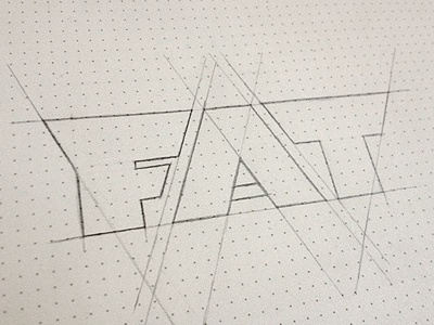 FAT (sketch) typography sketch fat grid redesign label coffee simon ålander coffee made me do it