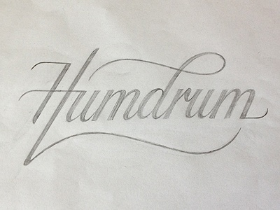 Humdrum logo (sketch) typography lettering hand-drawn logo sketch script humdrum simon ålander coffee made me do it
