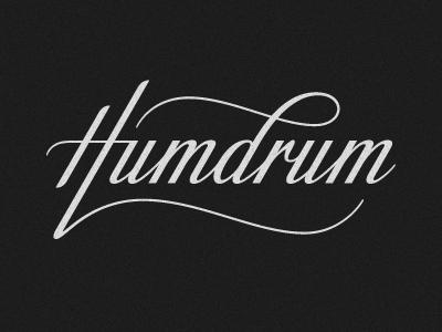 Humdrum logo logo typography lettering script hand-drawn custom humdrum clothing simon ålander coffee made me do it