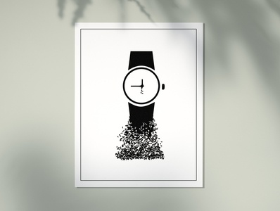 Dissolving time illustrator dissolve illustraion poster watch time