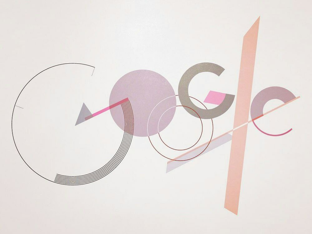 Google logo in Bauhaus style contest google illustation bauhaus cretive logo